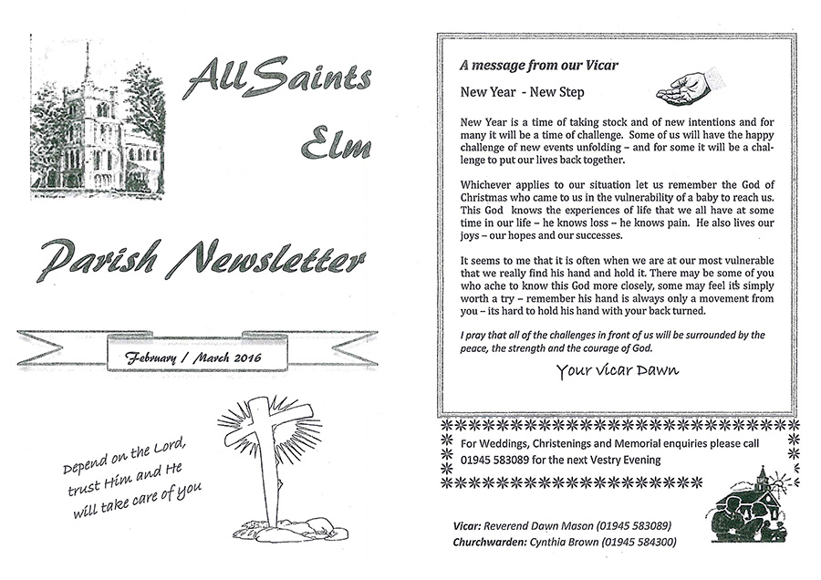 parish news letter page 1