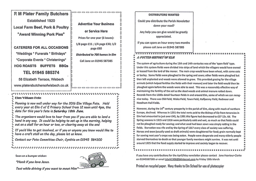 parish news letter page 4